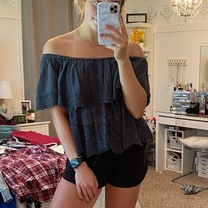 AE Lace Off-the-Shoulder Top